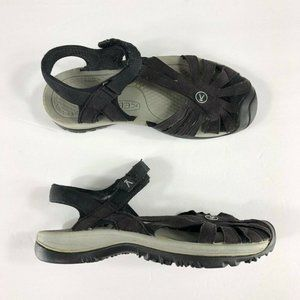 Keen Rose Sport Sandals Black Strappy Hook Loop